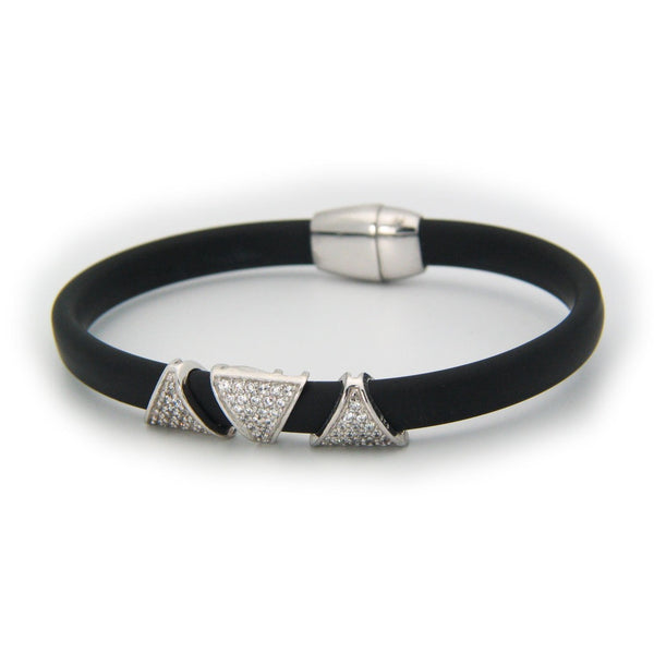London Black CZ Pyramids Bracelet