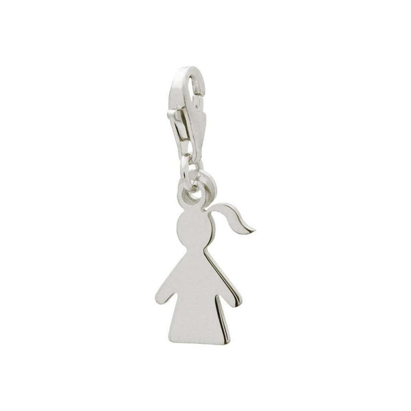 Silver Girl Cut Out Pendant