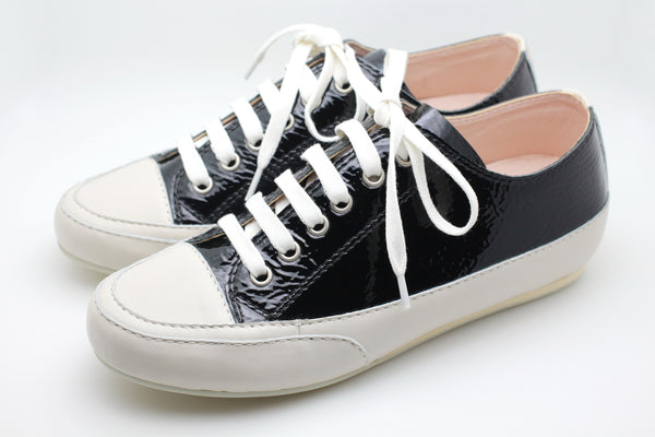 Patent Leather Sneaker (Black)