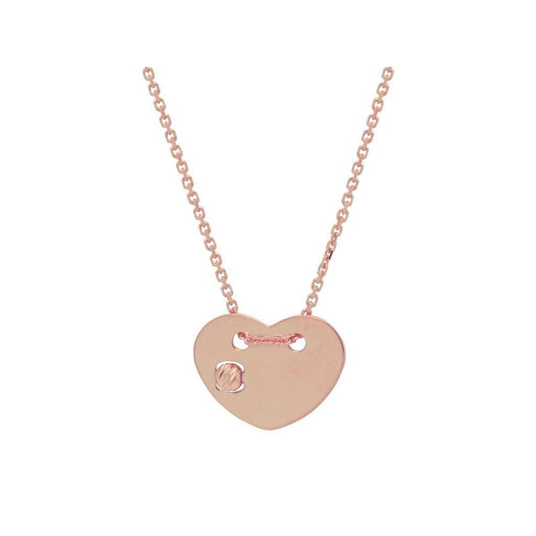 Revolving Pink Heart Necklace