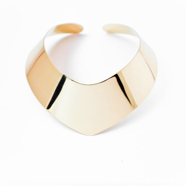 Perspective collar necklace