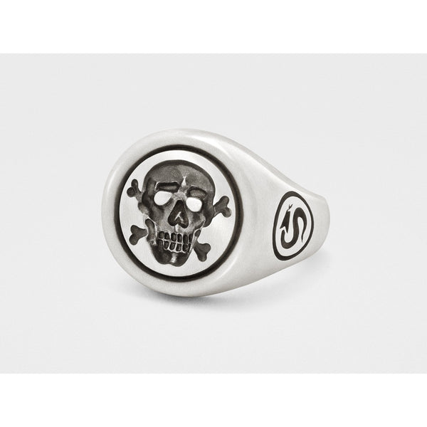 Jolly Roger Skull and Bones Signet Ring