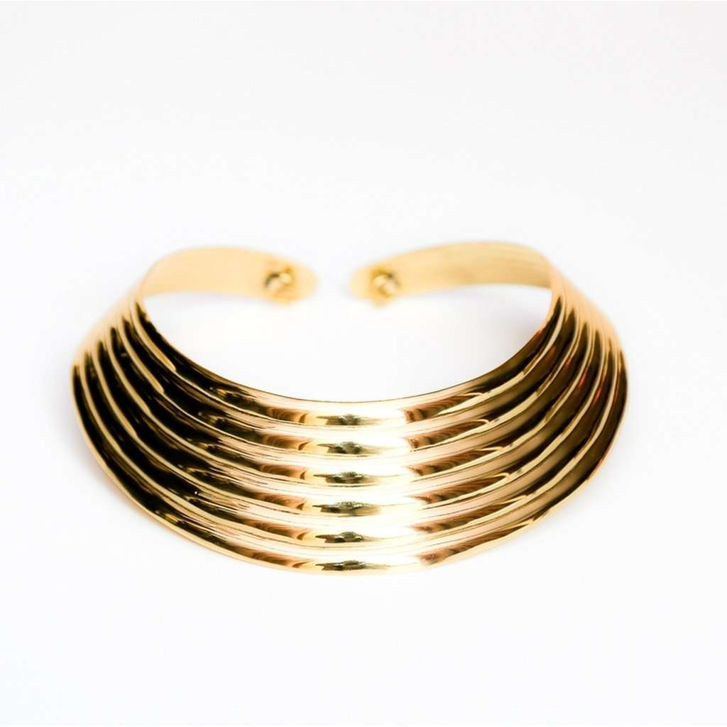 Ribbed collar  necklace