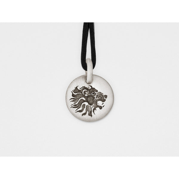 Lion Charm Pendant in Sterling Silver