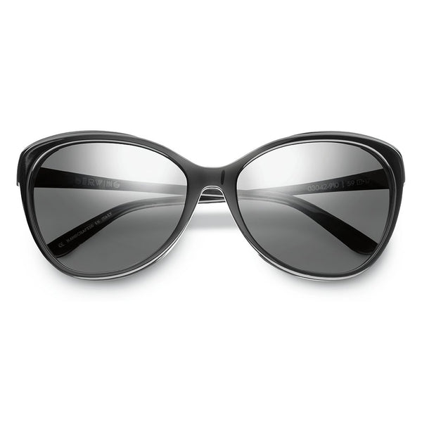 Daggerwing: Polished Black - Gloss Black / Grey Lens