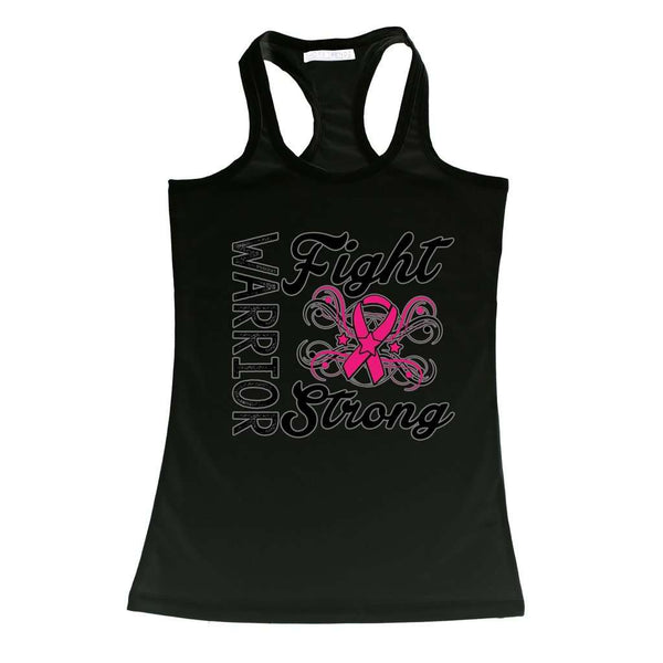 Women's Tank Top Breast Cancer Awareness Warriors Fight Strong