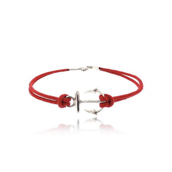 RED ANCHOR CORD BRACELET