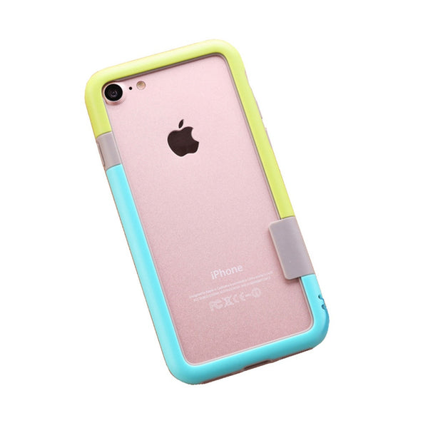 Color Combo iPhone 7 Frame Case (Green & Blue)