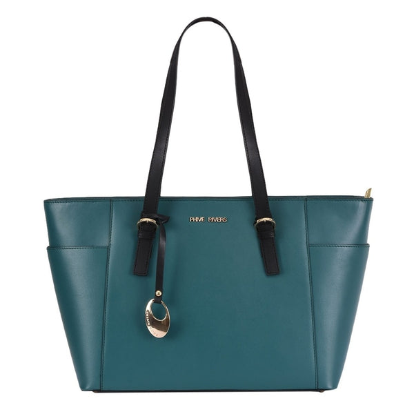 Phive Rivers Women's Leather Green Handbag