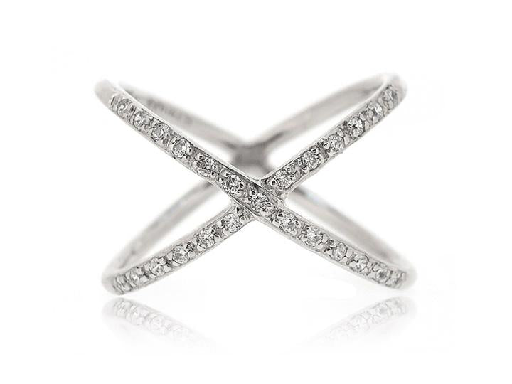 CZ CROSS RING