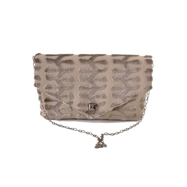 Totem Taupe envelope clutch