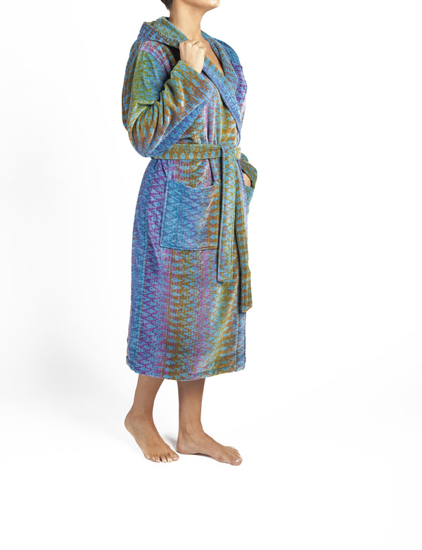 Blue Ocean Magic Bath Robe