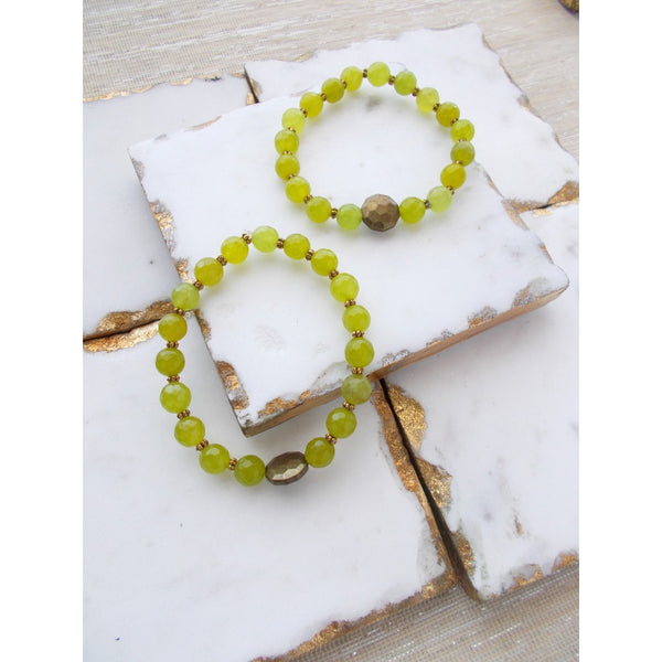 8631JB.g - Demi Bracelet in Lime Green
