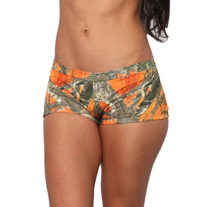 Women's Orange True Timber Hot Shorts Only Bikini Swimwear Made in USA