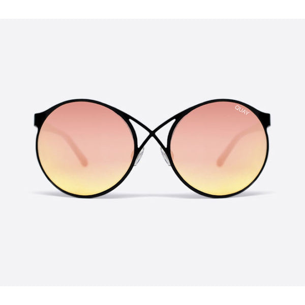 QUAY Australia Sorry Not Sorry black/rose mirror sunglasses
