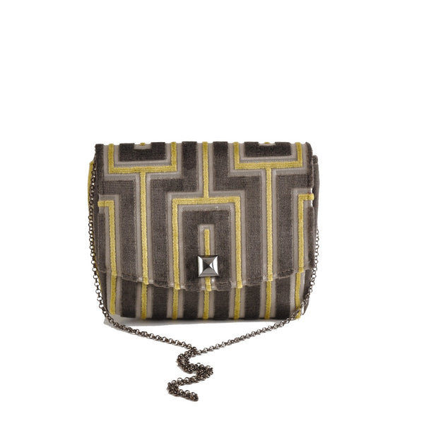 Maze Grey square clutch