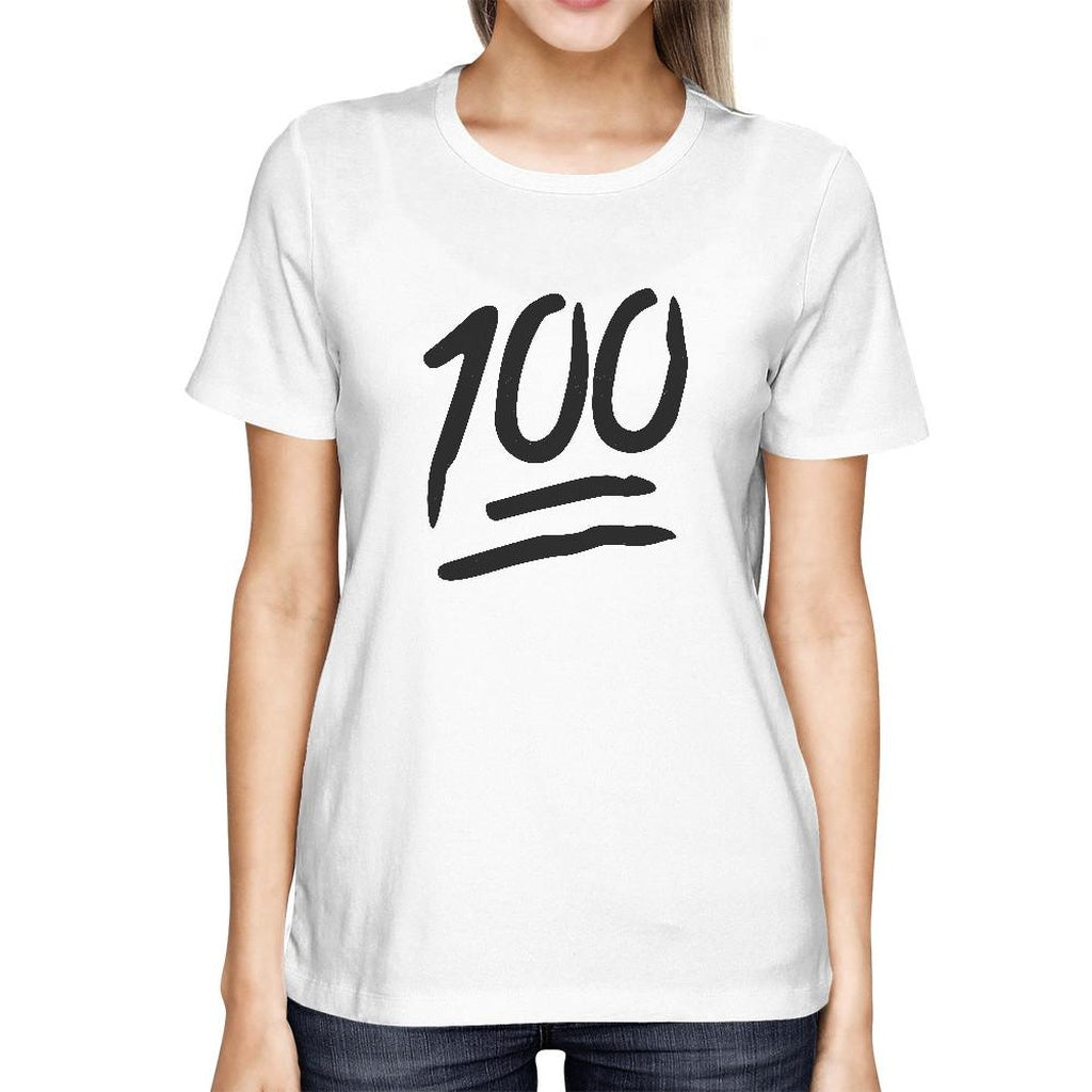 100 Points T-shirt Back To School Tee Ladies Cute Short sleeve Shirt