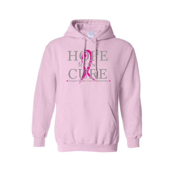 Unisex Pullover Hoodie Hope for the Cure Support Breast Cancer Awareness