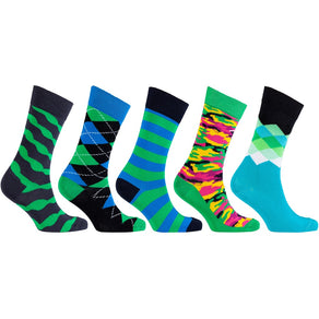 Men'S 5-Pair Colorful Mix Socks-3044