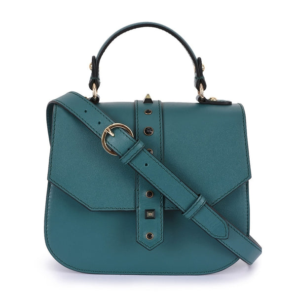 Phive Rivers Women's Leather Green Crossbody Bag