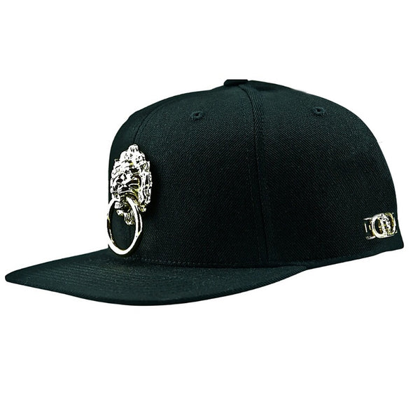 Large Metal Lion Snapback Hat