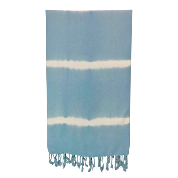 Sky Blue Tie Dye Turkish Beach Towel