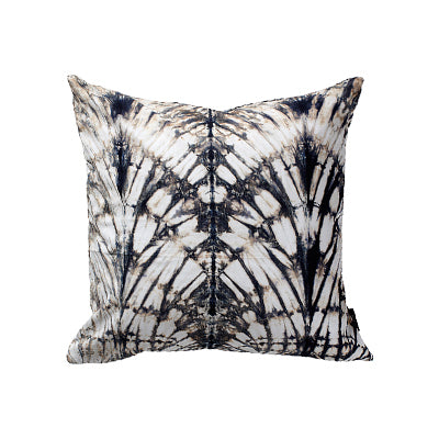 Tie Die Vintage Pillow Black and White Claw