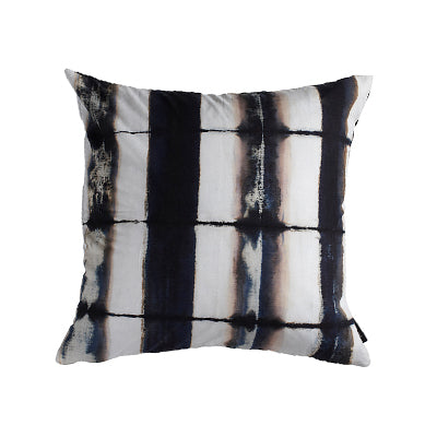 Tie Die Vintage Pillow Black and White Stripes