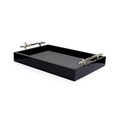 Coral Twig Tray Rectangle (BLACK)