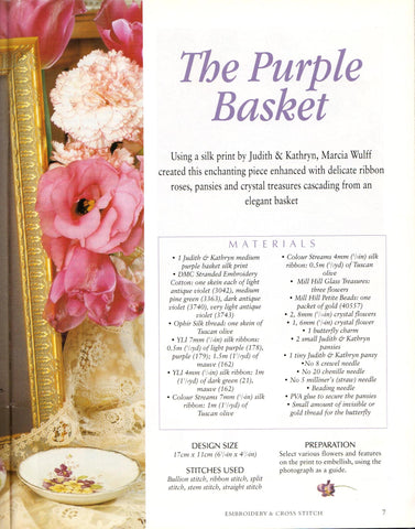 www.colourstreams.com.au Colour Streams Elegant Ribbon Embroidery Marcia Wulff The Purple Basket