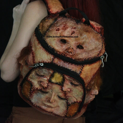 Exceptional Skin Skirt Corset An Ed Gein Backpack
