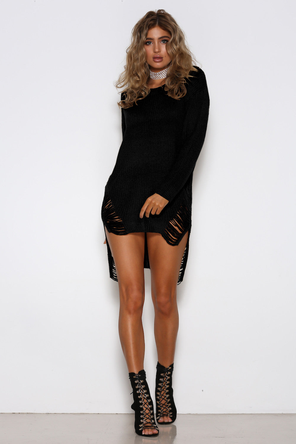 Isabelle Jumper Dress - Black