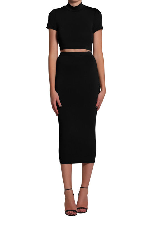 Serena Crop - Black