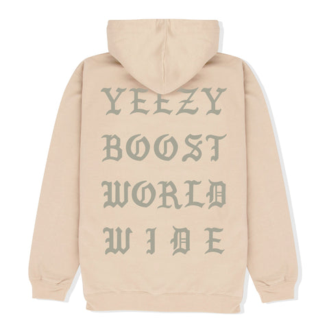 Beige YBST Gothic Hoodie Back