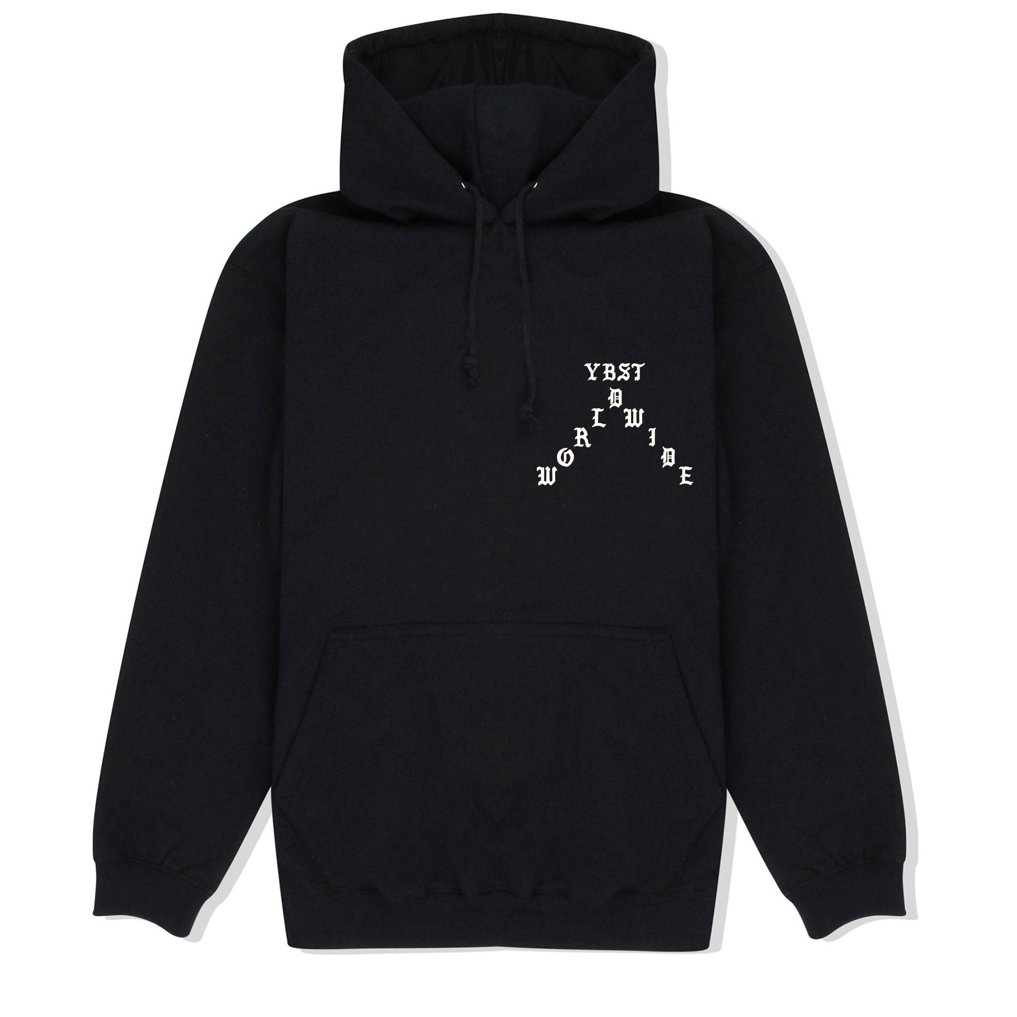 YBST Gothic Hoodie Black and White Front