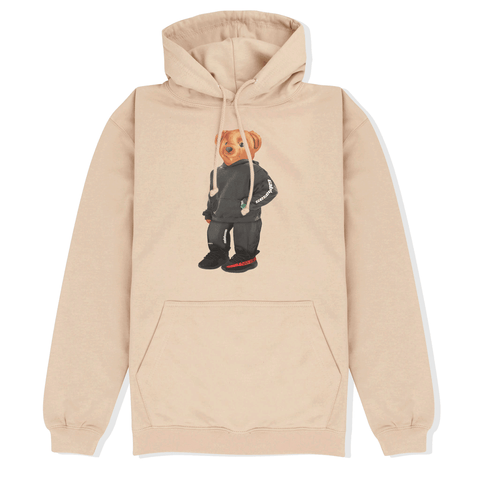 Calvin the Bear x YEEZY Hoodie in Beige Front