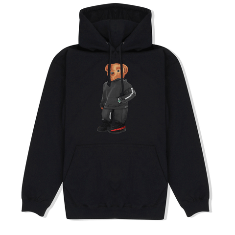 Calvin the Bear x YEEZY Hoodie in Black Front