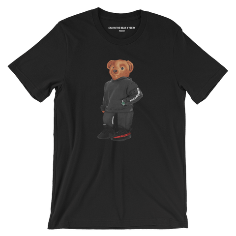 Calvin the Bear x YEEZY T-Shirt in Black Front