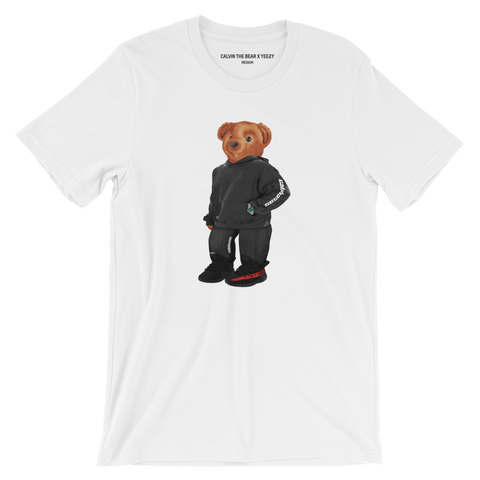 Calvin the Bear x YEEZY T-Shirt in White Front