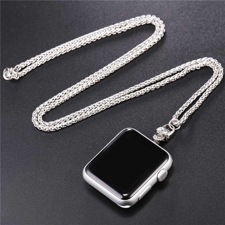 Skull Necklace Punk Style Cuban Chain For Apple Watch Series 1 & 2