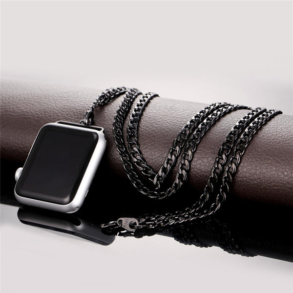 Necklace For Apple Watch Series 1 Series 2 Cuban Link Chain Accessory