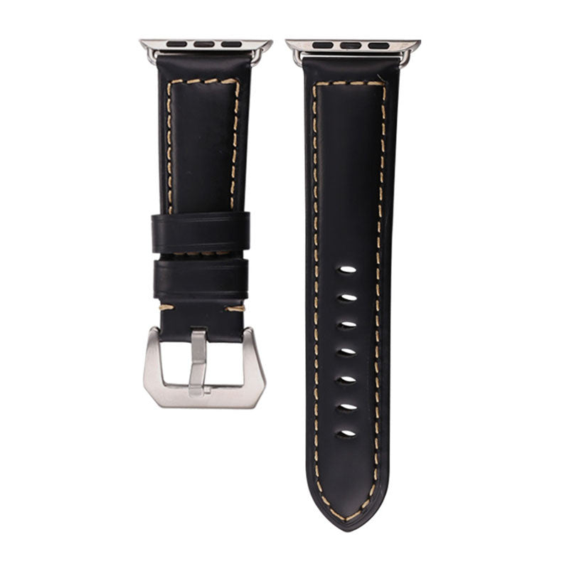 Apple Watch Band Genuine Leather Strap with Classic Buckle for Apple Watch Sport/Edition All Models
