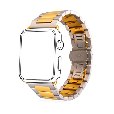 42MM Apple Watch Strap Stainless Steel Replacement Wrist Band Metal Clasp