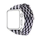 Grid Nylon Fabrics Watchband Replacement Wrist Strap for Apple Watch Sport/Edition Series 2/Series 1