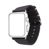 Black Nylon Fabrics Watchband Replacement Wrist Strap for Apple Watch Sport/Edition Series 2/Series 1