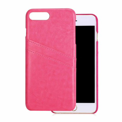 PU Leather Card Case Protective Back Cover for iPhone 8/8Plus/7/7plus