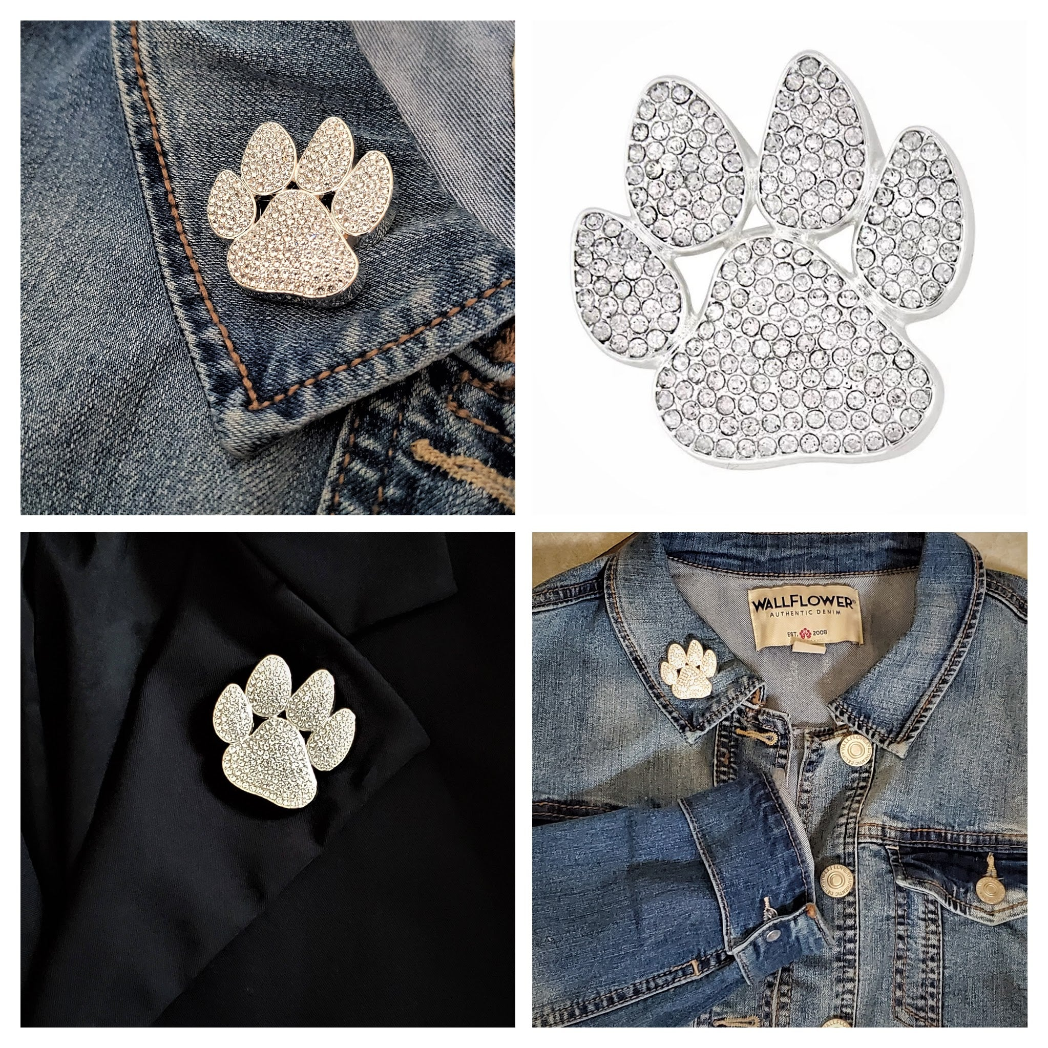 Dog Paw Magnetic Brooch