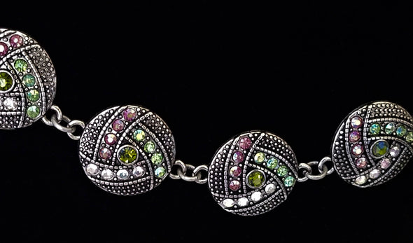 Silver Green & Pink Magnetic Jewelry String - QB's Magnetic Jewelry Creations