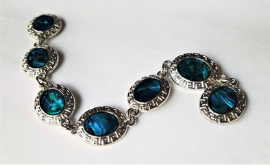 Silver & Blue Magnetic Jewelry String - QB's Magnetic Jewelry Creations