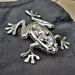 Frog Rhinestone Magnetic Brooch - QB's Magnetic Creations